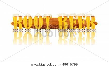 BEER ALPHABET letters ROOT BEER