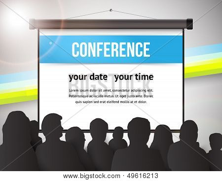 Conference tamplate illustration with space for your texts poster