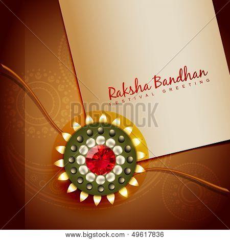 beautiful rakhi for hindu rakshabandhan festival