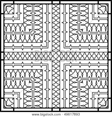 Wrought Iron Gate, Door, Fence, Window, Grill, Railing design poster