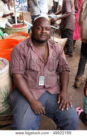 African Market Vendor Portrait