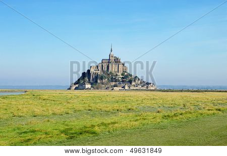 Mont saint-michel view - medieval abbey in France