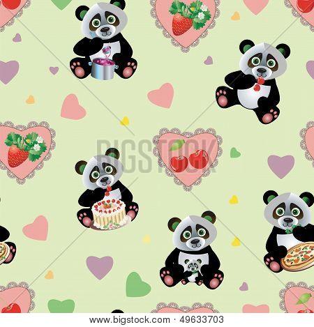 Panda Sweet Seamless