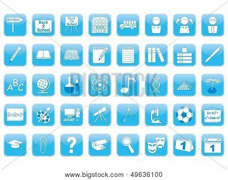 Blue Education Icons