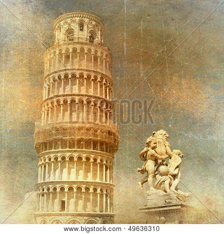 Pisa - retro styled picture