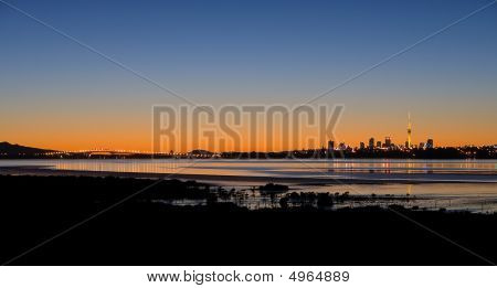 Auckland City At Sunrise