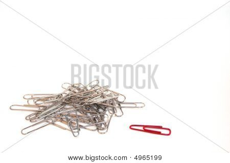 Odd One Out Paperclip Concept