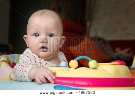 Frightened Baby Looking At Camera
