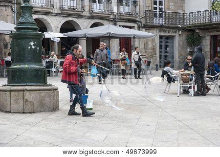 Street Artist In Vigo, Galicia