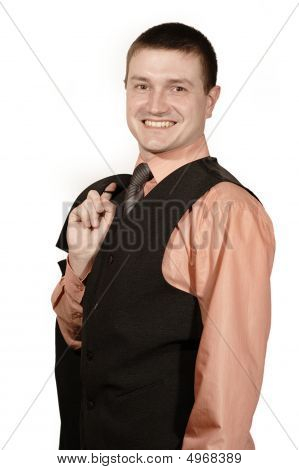 Smiling Man In West