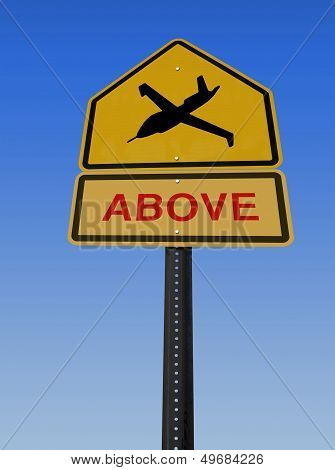Warning Drone Above Sign