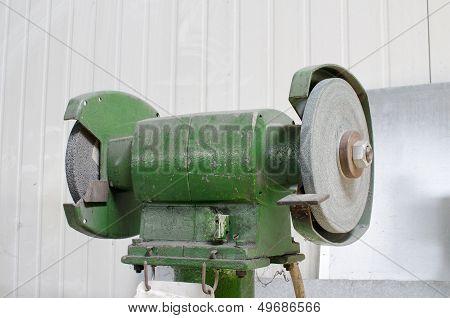 Whetstone Machine Close Up
