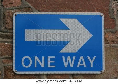 One Way Road Sign