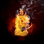 Illustration of pound burning symbol. Money concept poster