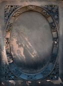 Aged Victorian gravestone frame with a gothic grunge look poster