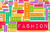 Fashion Industry Online as a Creative Abstract poster
