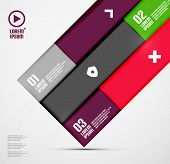 Modern minimal infographics poster
