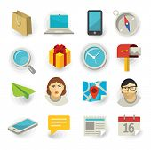 Flat icon vector  set for Web and Mobile Application. poster