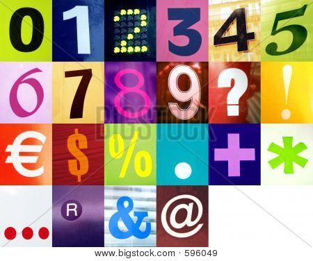 Numbers & Signs Collections