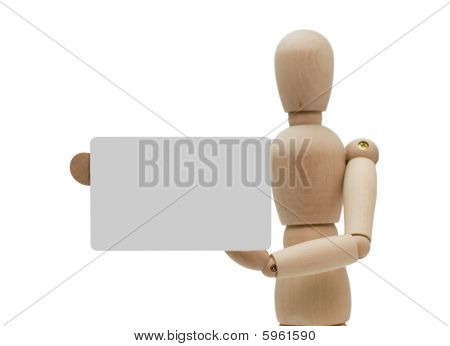 Manikin with card