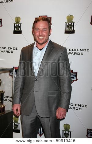 LOS ANGELES  - FEB 9:  Matt Prater at the ESPN Sport Science Newton Awards at Sport Science Studio on February 9, 2014 in Burbank, CA