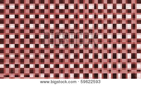 Red, Brown And White Colored Chess Board Pattern - Stock Image