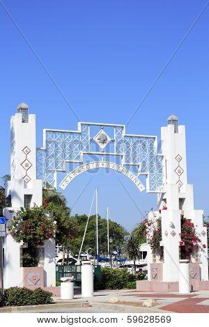 Close-up Of Sarasota Bayfront Entrance