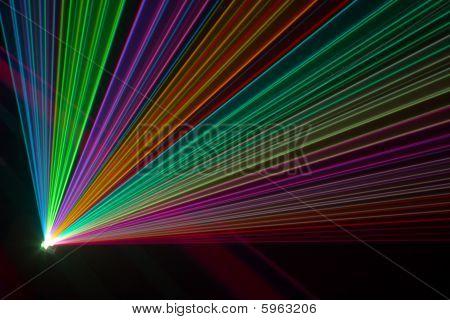 Color Laser Beams