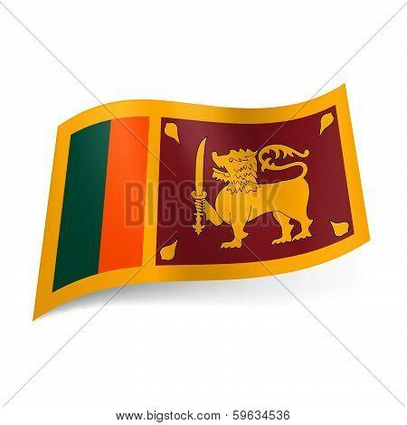 State flag of Sri Lanka