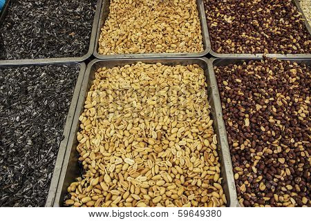 seeds, beer nuts for the game