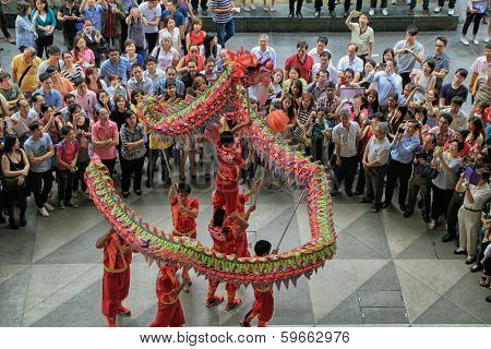 Dragon Dance during Chinese New Year