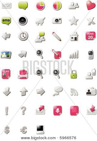 Web 2.0 homepage icons