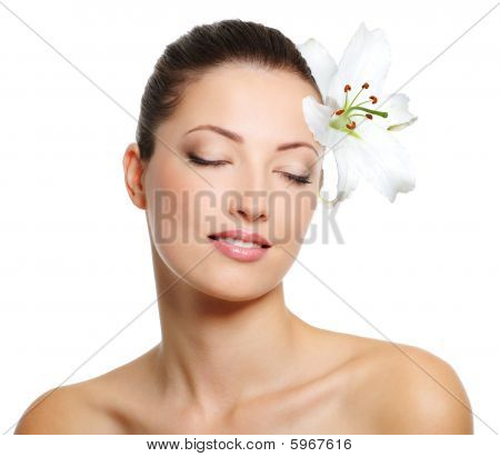 Beautiful Sensual Young Woman With Health Complexion