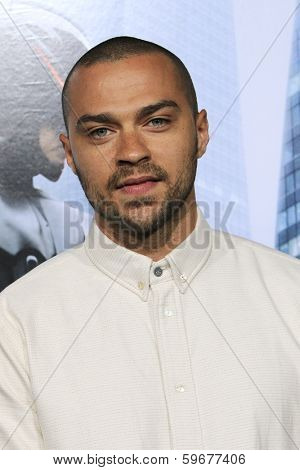 LOS ANGELES - FEB 10: Jesse Williams at the premiere of Columbia Pictures' 'Robocop' at TCL Chinese Theatre on February 10, 2014 in Los Angeles, California