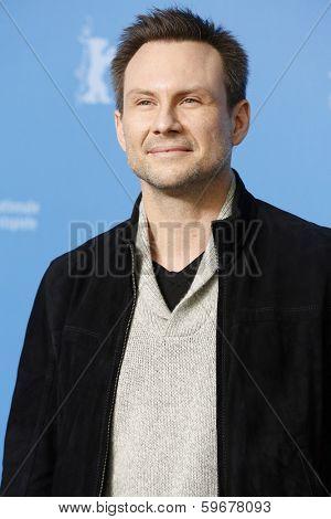 BERLIN - FEB 9: Christian Slater at the 'Nymphomaniac Volume I' photocall - 64th Berlinale International Film Festival at Grand Hyatt Hotel on February 9, 2014 in Berlin, Germany