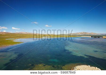 Lake Landscape In Tibet