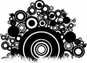 vector pattern of circles abstract sitting on grass poster