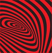 Abstract background with optical illusion effect. Vector  poster