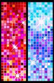 set of party backgrounds, colorful shiny disco poster