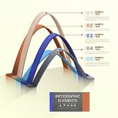 modern 3d vector abstract arch infographic elements poster