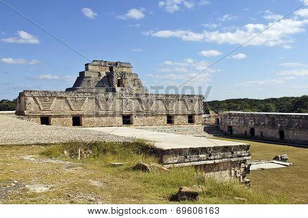 Pyramid, built by the Mayas.