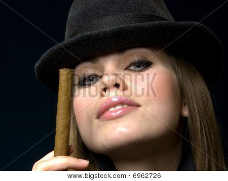 Girl In Points And A Cap