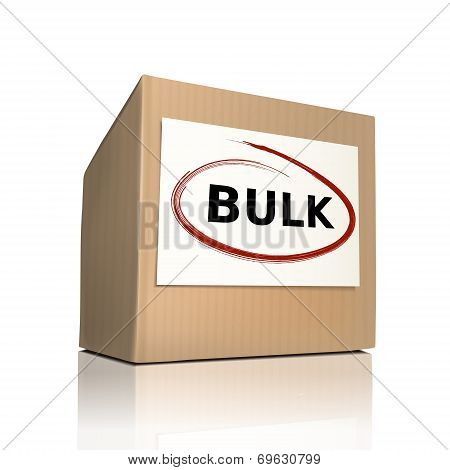 The Word Bulk On A Paper Box