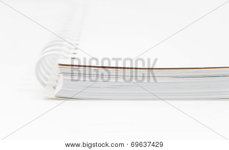 Closeup Spiral Notepad Isolated On White Background