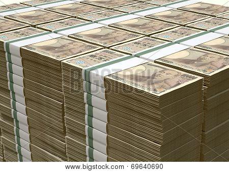 Yen Notes Pile