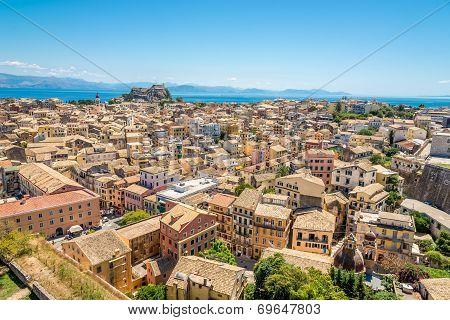 View Of Corfu City From Neo Frourio