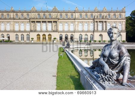 An image of the Castle Herrenchiemsee in Bavaria Germany