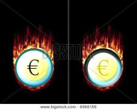 Hot Euro Button