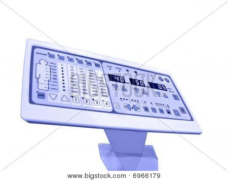 Digital Control Panel, Anatomy Patient Test, Isolated on white