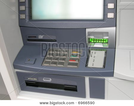 Atm money machine, automated cash point